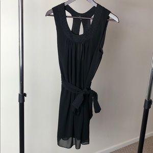 Black dress with matching tie